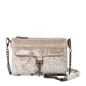 Rebecca Minkoff Velvet Mini MAC Crossbody Bag GRAY